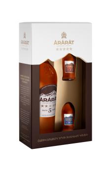 ARARAT  Five Stars with ARARAT Ani & ARARAT Akhtamar 0.05 mini bottles